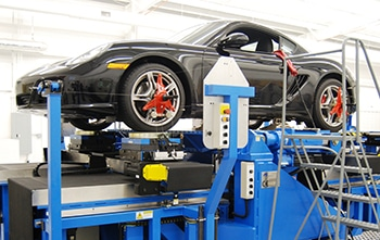 Production vehicle suspension evaluation with K&C