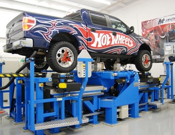 Truck suspension evaluation with K&C