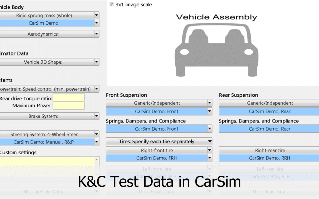 10 K&C Tests You Need for Your CarSim Model